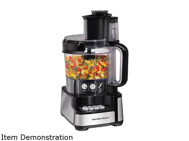 Hamilton Beach 70725 Black Stack & Snap 12 Cup Food Processor