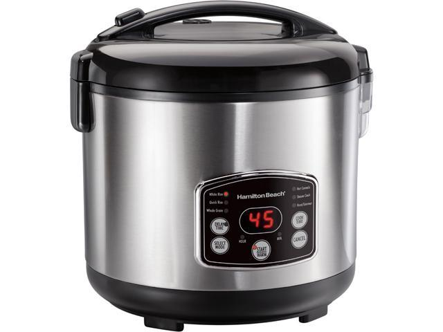 Hamilton Beach 37548 Rice & Hot Cereal Cooker, Stainless Steel