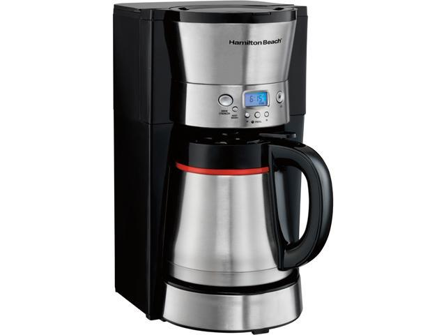 Hamilton Beach 46896 Black Programmable 10 Cups Thermal Carafe Coffeemaker
