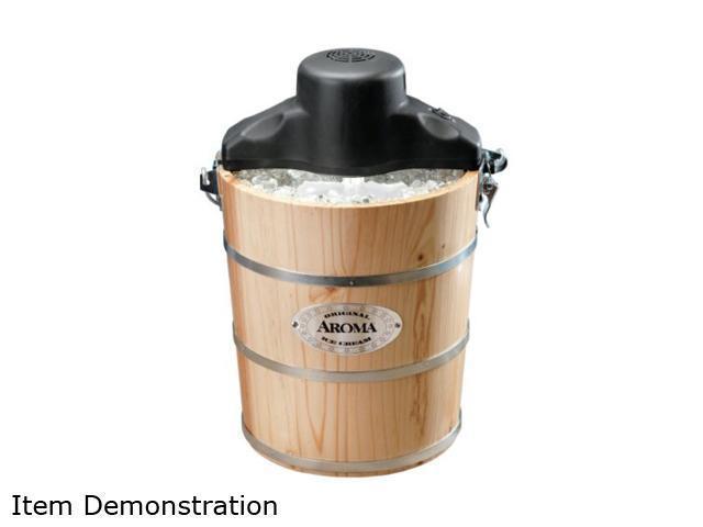 Aroma AIC-204EM 4-Qt. Traditional Ice Cream Maker