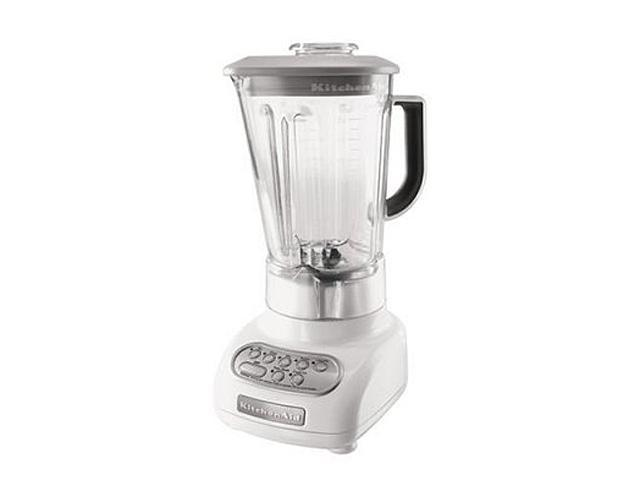 KitchenAid KSB560WH White 56 oz. Jar Size 56 oz. Polycarbonate Pitcher Blender 5 speeds