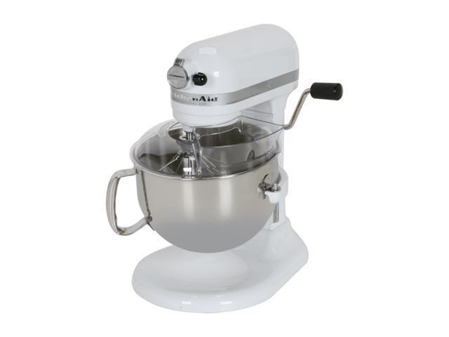 kitchenaid 6 quart mixer. kitchenaid kp26m1xwh professional 600 6 quart stand mixer white kitchenaid h