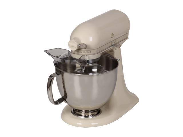 KitchenAid KSM150PSAC Artisan Series 5-Quart Tilt-Head Stand Mixer Almond Cream