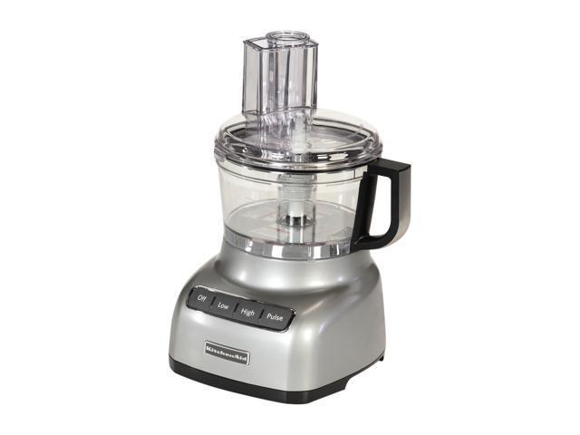 KitchenAid KFP0711CU Contour Silver 7-Cup Food Processor 3 Speeds