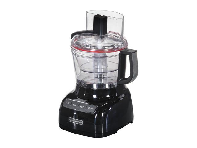 KitchenAid KFP0922OB Onyx Black 9-Cup Food Processor with ExactSlice System 3 Speeds