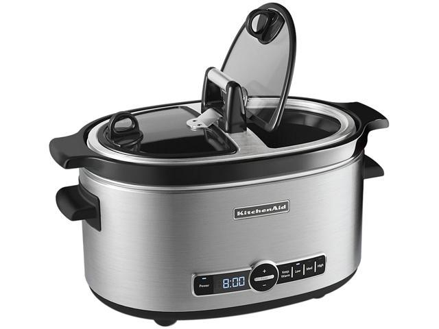 KitchenAid KSC6222SS Stainless Steel 6 Qt. 6-Quart Slow Cooker with Easy Serve Lid