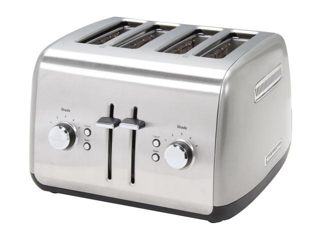 KitchenAid KMT4115CU Countour Silver 4 Slice Toaster