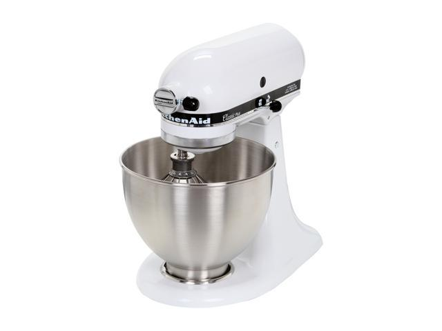 KitchenAid KSM75WH Classic Plus Tilt-Head 4 ½ Quart Stand Mixer White