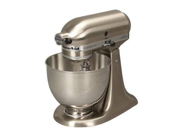 KitchenAid KSM152PSNK Custom Metallic Series 5-Quart Tilt-Head Stand Mixer Brushed Nickel