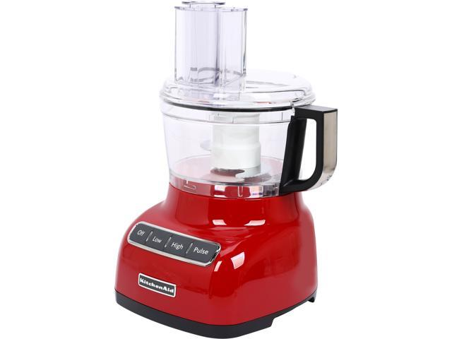KitchenAid KFP0711ER Empire Red 7-Cup Food Processor with ExactSlice System 3 Speeds