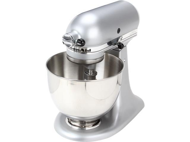 silver kitchen aid kitchenaid artisan series 5quart 10speed