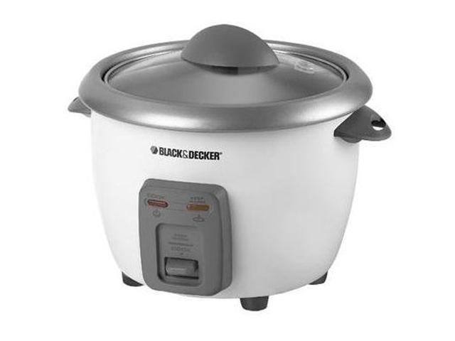 Black & Decker 3 Cups Uncooked Yields 6 Cups Cooked, Rice Cooker