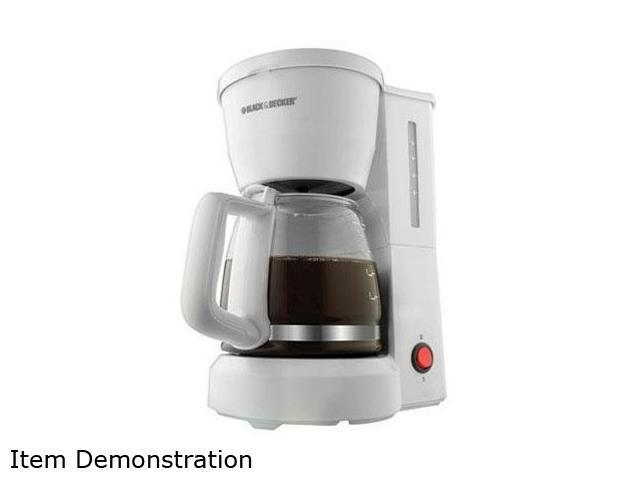 Black & Decker DCM600W White 5-Cup Drip Coffee Maker with Glass Carafe