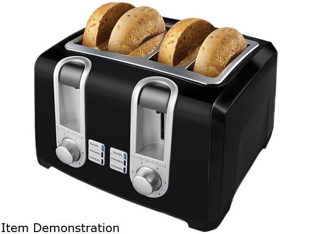 Black & Decker T4569B Black 4 Slice Toaster