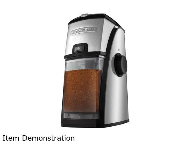Black And Decker Coffee Grinder ~ Black decker cbm burr mill coffee grinder newegg