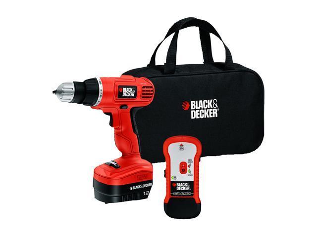 Black & Decker 12-Volt Cordless Drill & Stud Sensor Kit