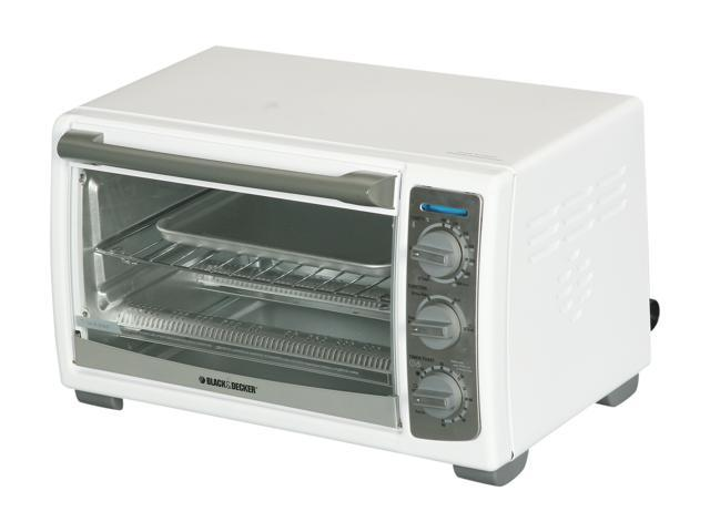 Black & Decker TRO4075W White 4-Slice Toaster Oven With Convection