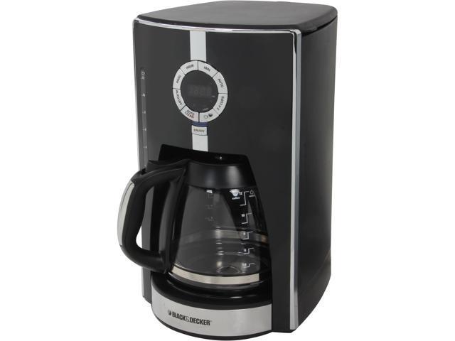 Coffee Maker Black And Decker Manual : Black & Decker CM1650B Black 12-Cup Programmable Coffee Maker - Newegg.com
