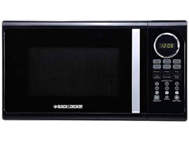 black decker 900 watts 0 9 cu ft microwave 900w black. Black Bedroom Furniture Sets. Home Design Ideas