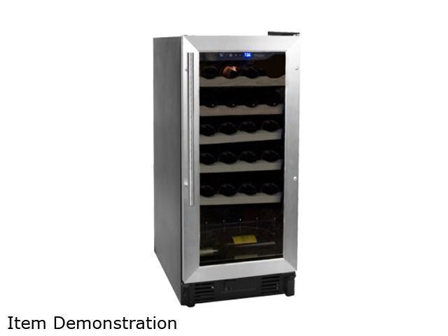 Haier HVCE15BBH 26-Bottle Capacity Built-In or Freestanding Wine Cellar Silver