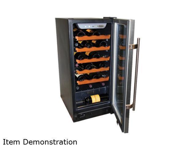 Haier HVCE15DBH 26-Bottle Capacity Built-In or Freestanding Wine Cellar Black
