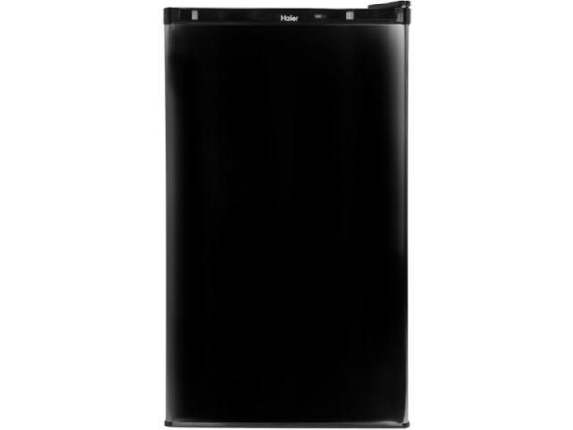 Haier 3. 2 Cu. Ft. Reversible Door Adjustable Thermostat Refrigerator Black HNSE032BB