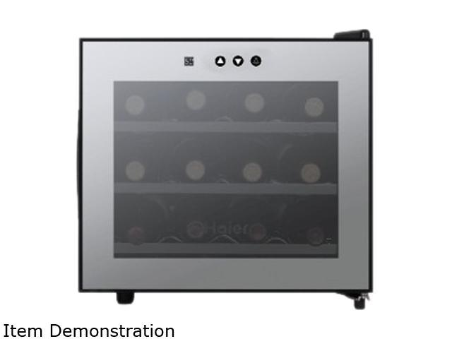 Haier HVTM12BSS Wine Cellar with Electronic Controls Gray