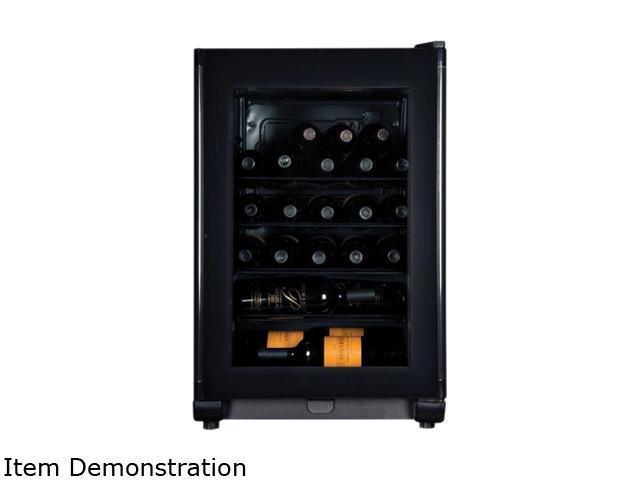 Haier HVFE024BBB 24-Bottle 24-Bottle Compressor Wine Cellar with Electronic Controls