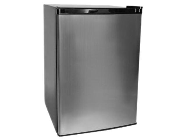 Haier 4.5 cu. ft. 4.5 Cu. Ft. Compact Refrigerator/Freezer Black Cabinet / VCM Door HNSE045VS