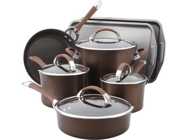 Circulon 82982 9-Piece Cookware Set with 2-Piece Bakeware set Brown
