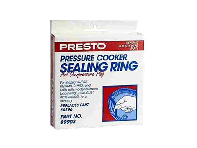 PRESTO 09903 Sealing Ring/Overpressure Plug Pack for 3- & 4-Quart Pressure Cookers