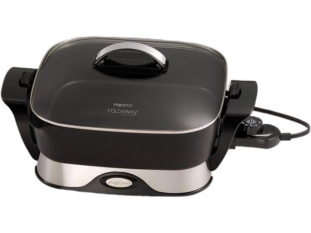National Presto 07113 Electric Foldaway Skillet, 12-Inch, Black