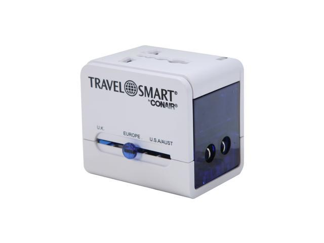 CONAIR TS250AD Travel Smart All-in-One Adapter with Built-in USB Port