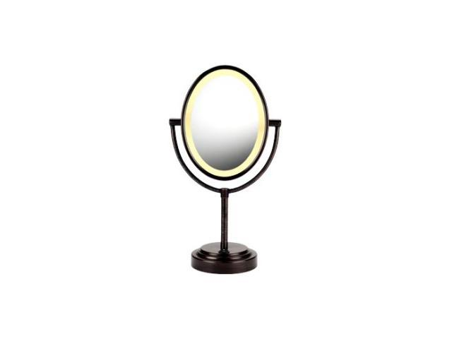 CONAIR BE47BR Oval Oiled-Bronze Double-Sided Illuminated Mirror