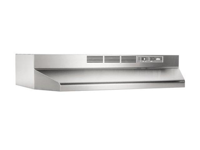 Broan 413004 ADA Capable Non-Ducted Under-Cabinet Range Hood, 30-Inch, Stainless Steel
