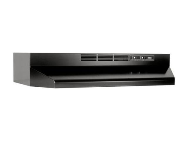 Broan 413023 30 In. Black Under Cabinet Range Hood, Non-Ducted