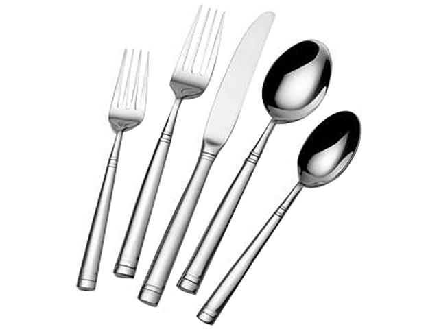 LIFETIME BRANDS 5114324 International Home 20-Piece Hoopla Frost Flatware Set