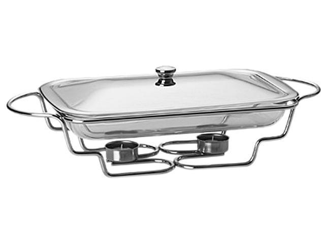 LIFETIME BRANDS 5108963 Towle Living Modernist Chrome-Plated Oblong Baker Warmer