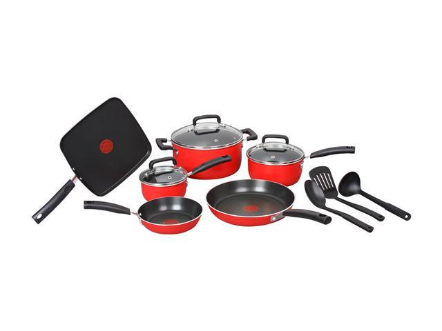T-fal C112SC64 12pc Cookware Set Red