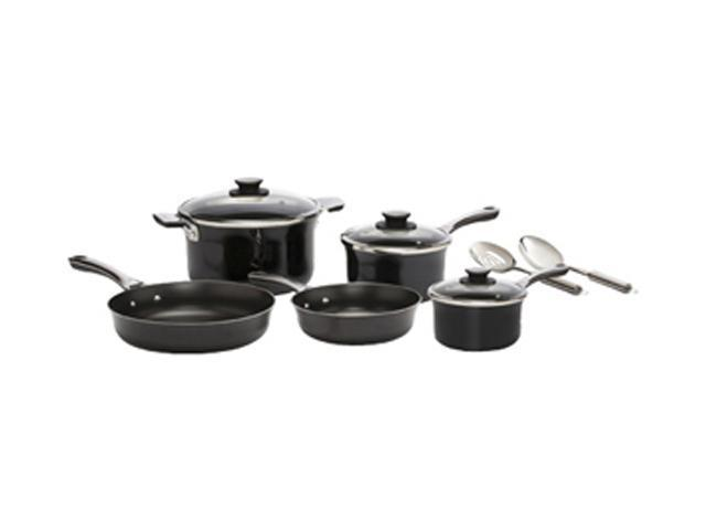 T-fal D921SA64 W 10pc Cookset Black