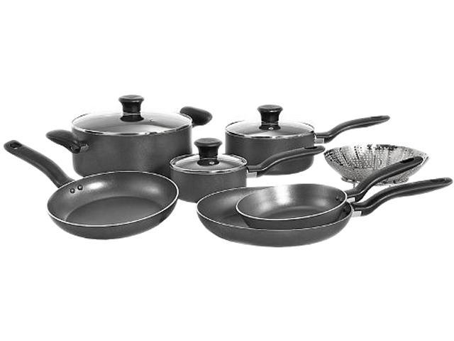 T-fal A821SA94 Initiatives 10pc Cookware Set Gray