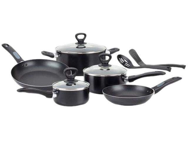 T-Fal -A797SA74 Mirro Get-A-Grip Nonstick 10-Piece Cookware Set