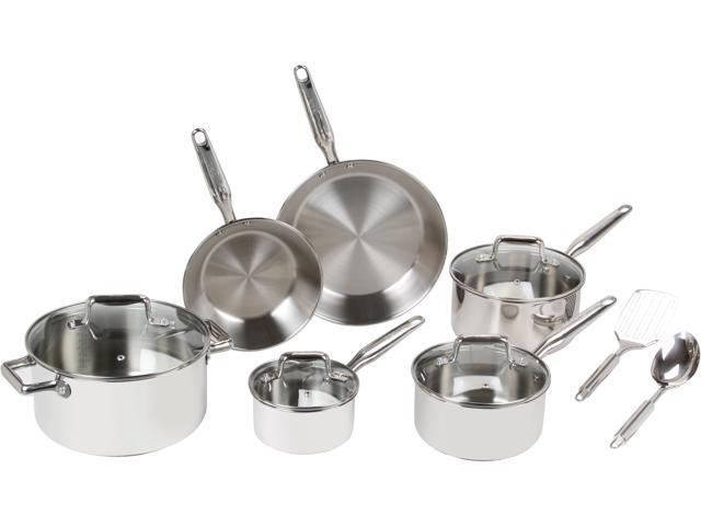 T-fal Ultimate Stainless Steel Copper Bottom 12-Piece Set