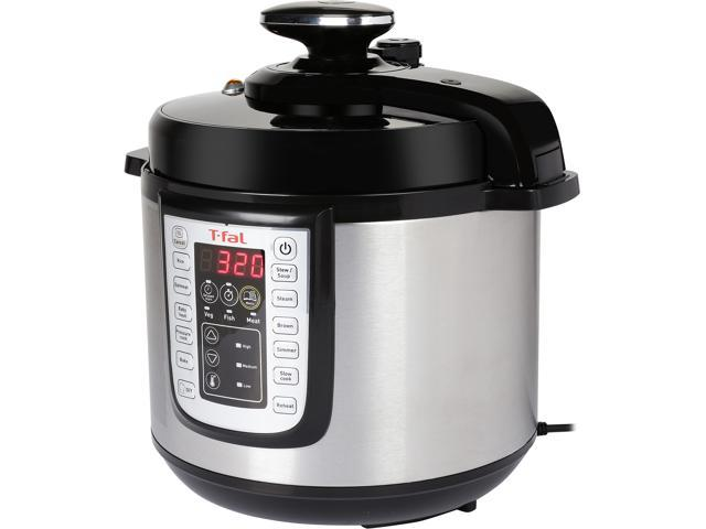 T-Fal CY505E51 6Qt 12-in-1 Programmable Electric Multi-Functional Pressure Cooker, Stainless Steel (Silver)/Black