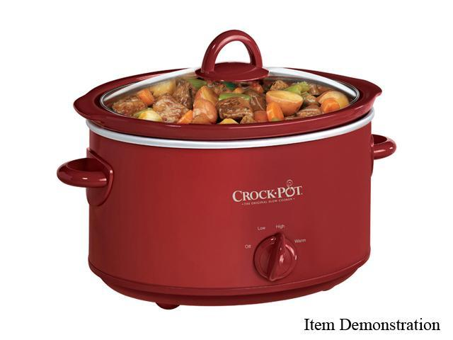CROCK-POT SCV401-TR Red 4 Qt. Slow Cooker