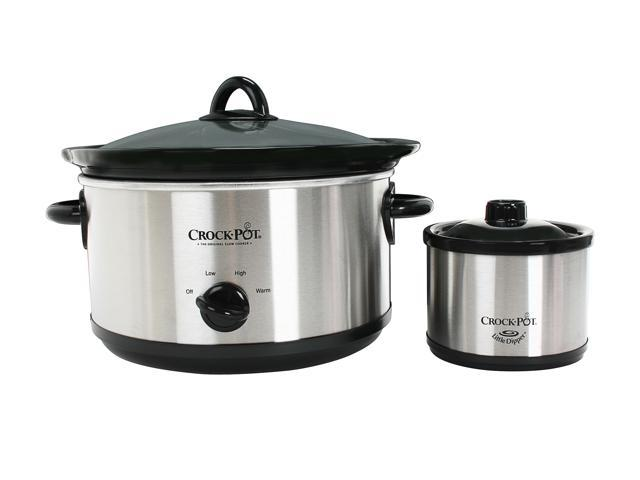 CROCK-POT SCR503-UM Stainless Steel 5 Qt. Slow Cooker