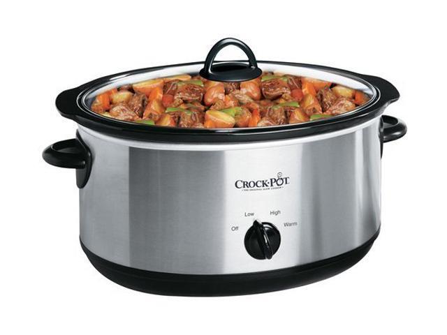 Crock-Pot SCV700SS 7-Quart Oval Manual Slow Cooker, Silver