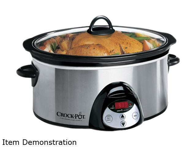CROCK-POT SCVC651-F-CP Stainless Steel 6.5 Qt. 6.5-Quart Oval Countdown Slow Cooker