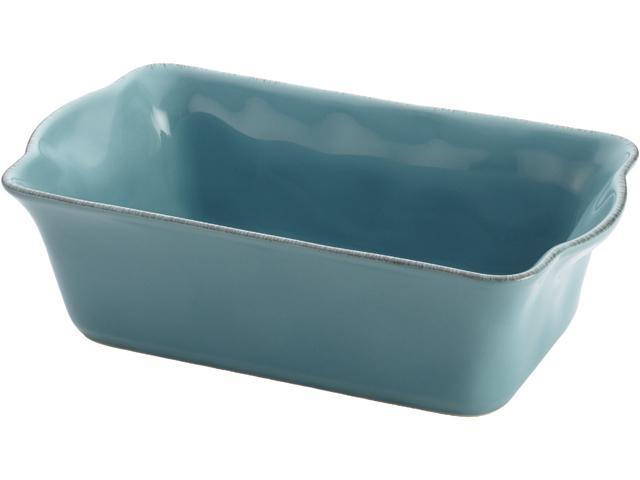 Rachael Ray  58315  Cucina Stoneware 9-Inch x 5-Inch Loaf Pan, Agave Blue