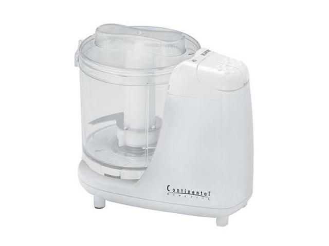 Continental Electric CE22361 White 1.5-Cup Mini Chopper